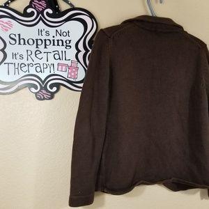 Neiman Marcus Sweaters - Neiman Marcus Exclusive Dark Brown Cardigan